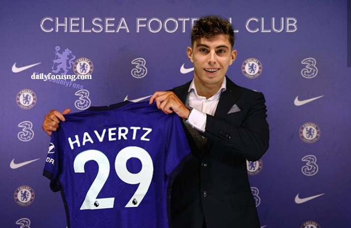 Chelsea completes £71 million Havertz signing from ...