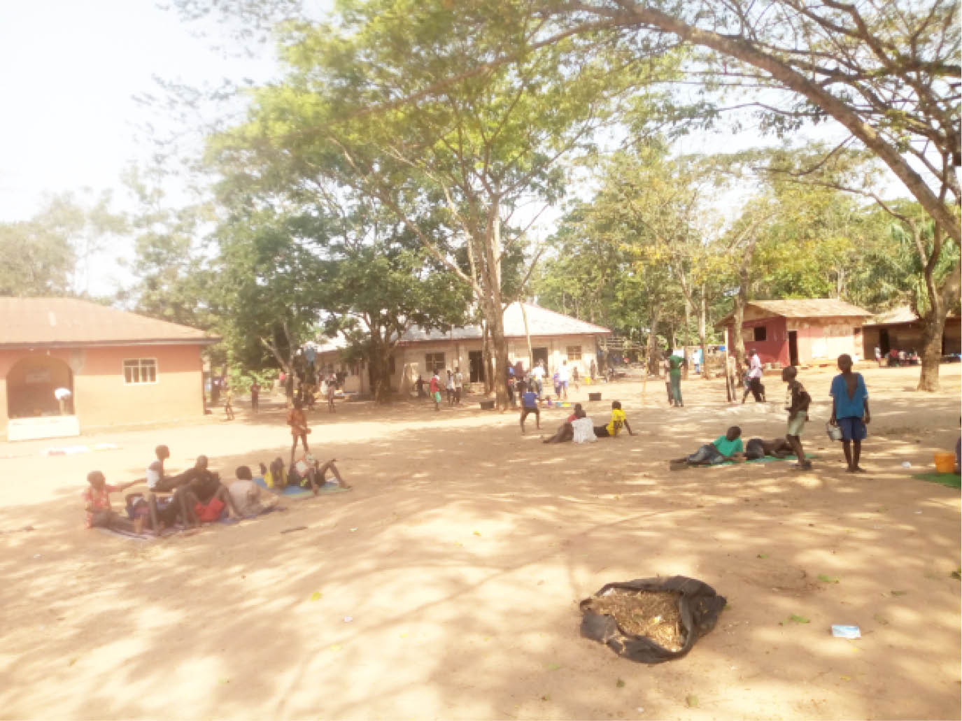 Children playing at an IDPs camp in Edo