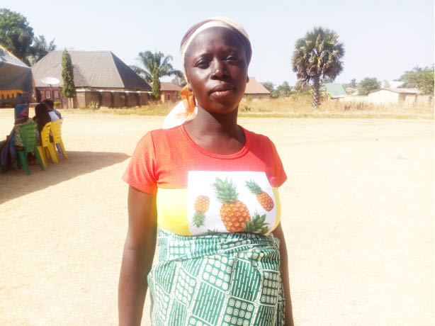9-month pregnant Liatu Kefas, a widow, spent Christmas at the IDP Camp in Zonkwa