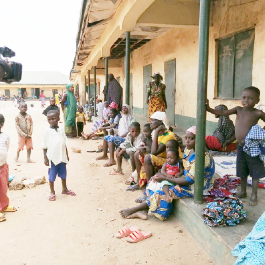 Cross section of people displaced by bandits and kidnappers at a camp in Minna