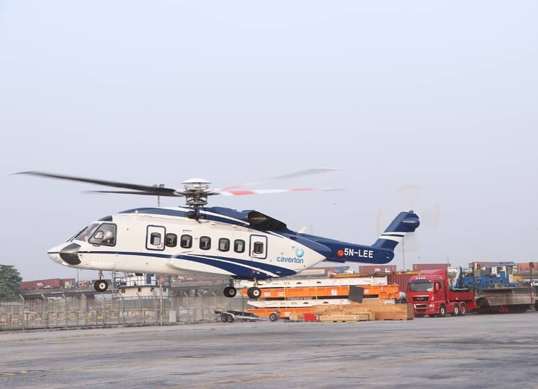 The imported and assembled Caverton helicopter