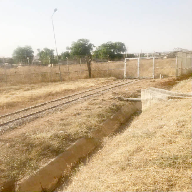 There is a connecting rail line that enters the port premises in Kaduna