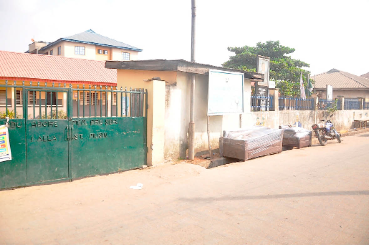 Odu Abore Primary School, Iyala street, Mushin built by the former governor