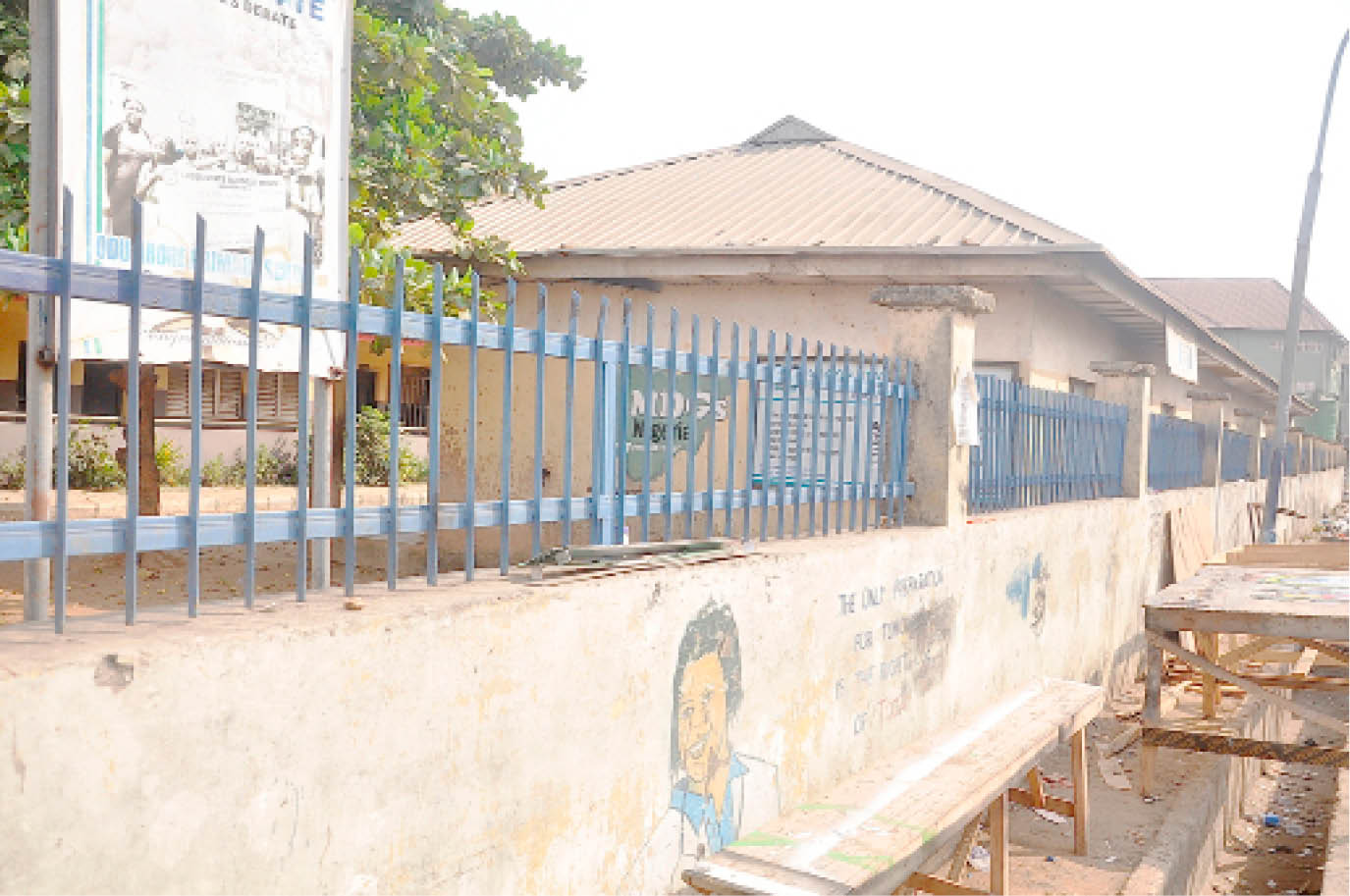 Odu Abore Primary School, Iyala street, Mushin built by the former governor of Lagos State, Alhaji Lateef Jakande