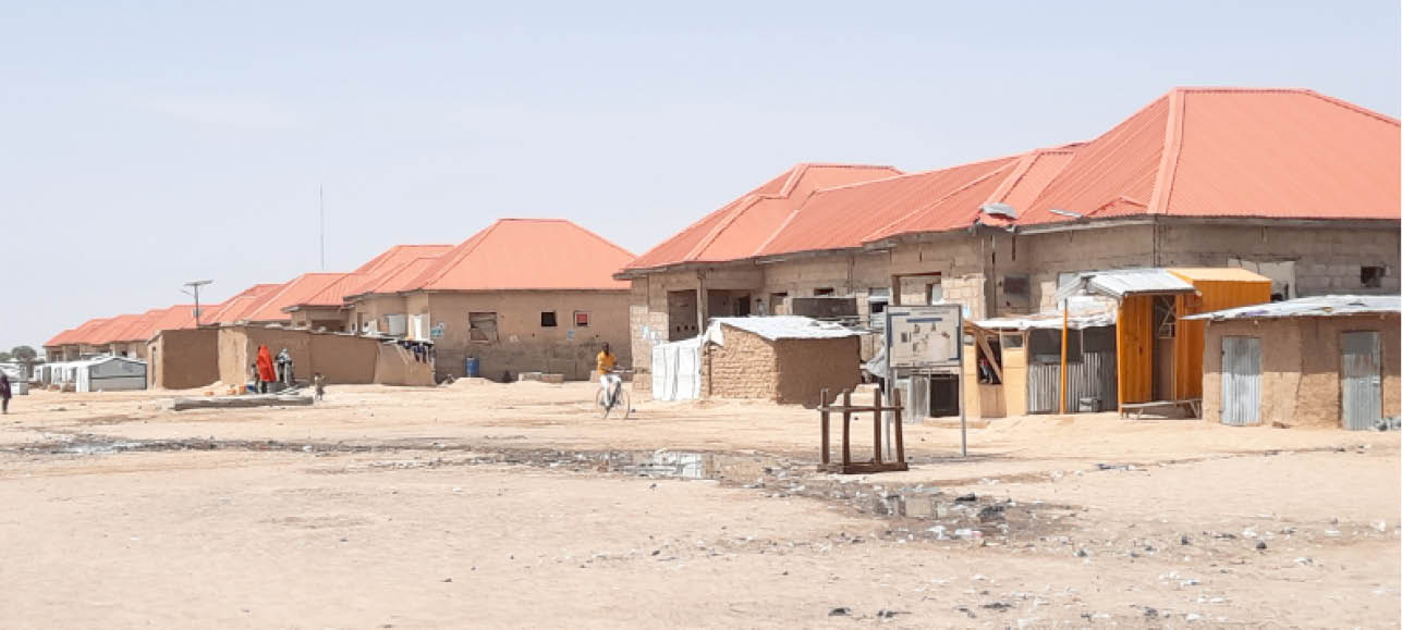 Uncompleted building where some IDPs reside at Bakassi IDP camp Maiduguri