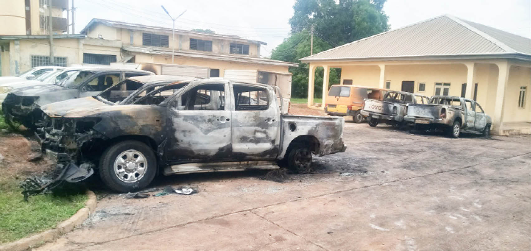 Attack on INEC headquarters in Enugu earlier this month