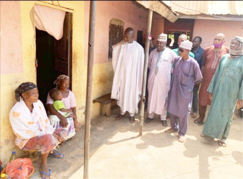 Niger state government officials during a condelence visit to the family of those who lost their families