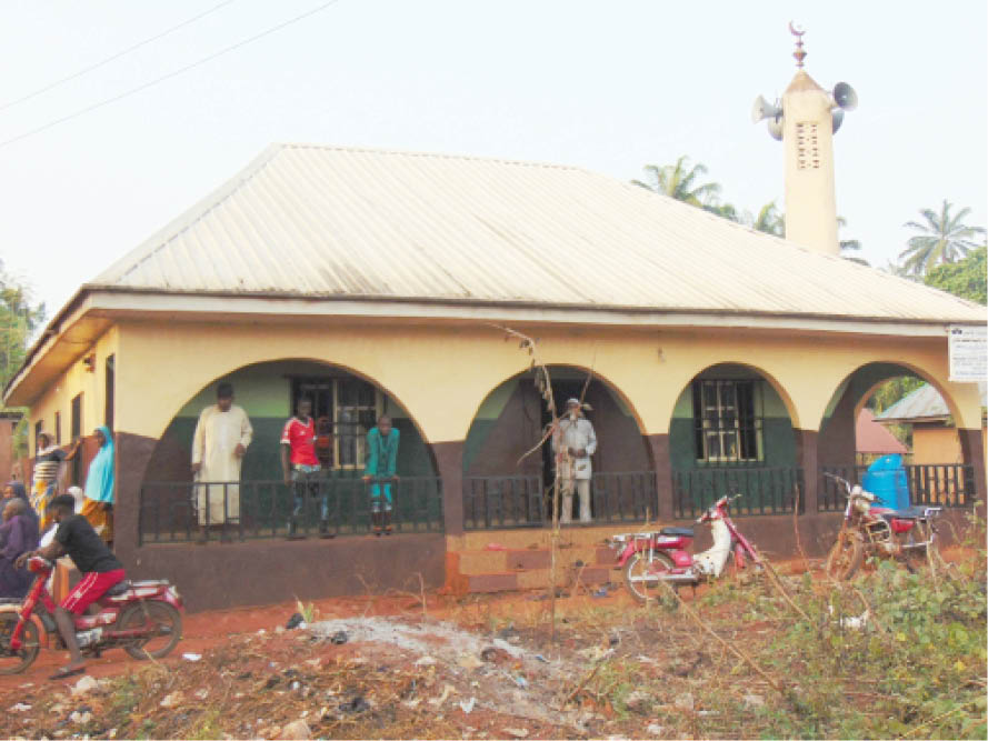 Central Mosque Alor-Agu. The Community is famous for its population of indigenous Igbo Muslims
