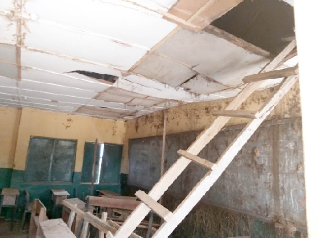 File photograph of a school with dilapidated facilities in Abuja