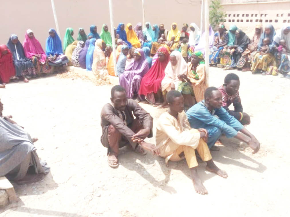 Women and other kidnapped victims released by bandits in Zamfara on Tuesday