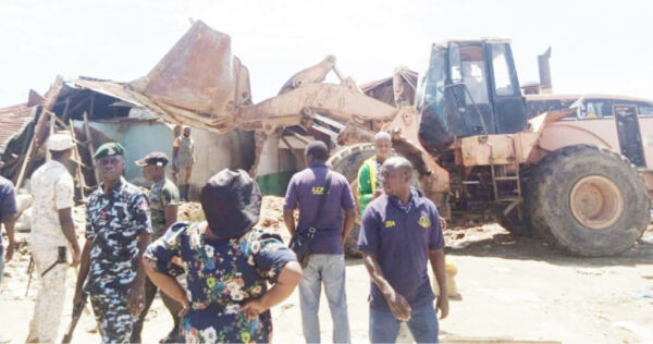 Demolition continues in Mpape, Abuja yesterday